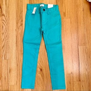 NWT Children's Place Teal Jegging size 6